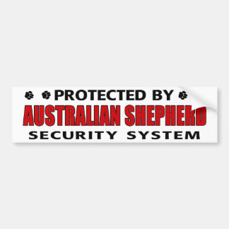 Australian Shepherd Security Car Bumper Sticker