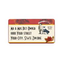 Australian Shepherd Sheepdog Address Label