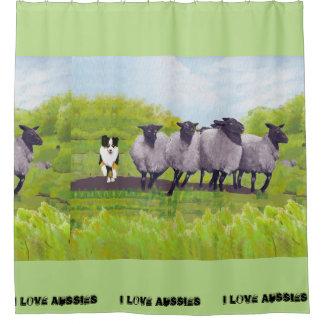 Australian Shepherd Sheepdog Fabric Shower Curtain