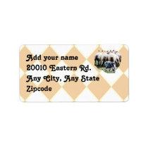 Australian Shepherd Sheepdog on Argyle Label