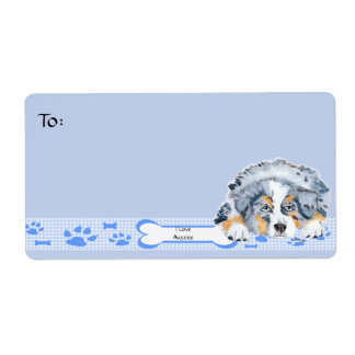 Australian Shepherd Shipping Label