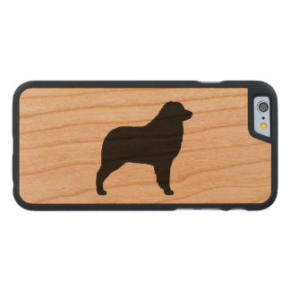 Australian Shepherd Silhouette Carved Cherry iPhone 6 Slim Case