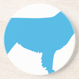 Australian Shepherd Silhouette Coaster