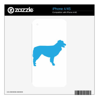 Australian Shepherd Silhouette Decals For The iPhone 4S