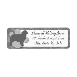 Australian Shepherd Silhouette Custom Return Address Label