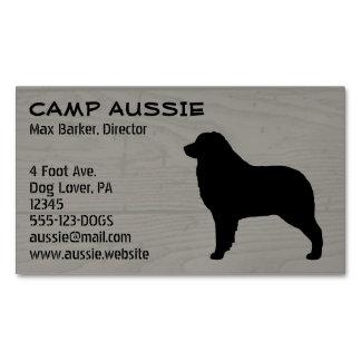 Australian Shepherd Silhouette Magnetic Business Card