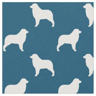 Australian Shepherd Silhouettes Pattern Fabric