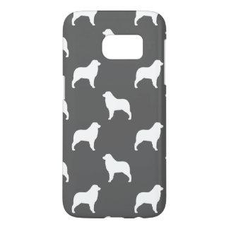Australian Shepherd Silhouettes Pattern Grey Samsung Galaxy S7 Case
