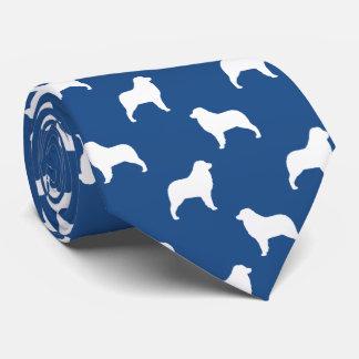 Australian Shepherd Silhouettes Pattern Neck Tie