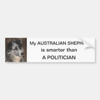 Australian Shepherd smarter than a Politician Bumper Sticker