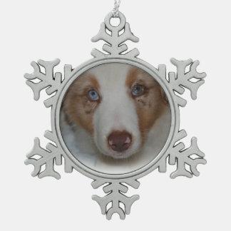 Australian Shepherd Snowflake Ornament