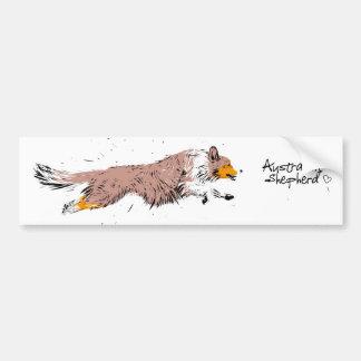 Australian Shepherd, talk merle Bumper Sticker