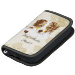 Australian Shepherd ~ Tan Leaves Motiff Folio Planner