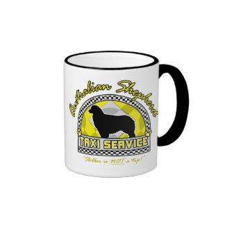 Australian Shepherd Taxi Service Coffee Mugs