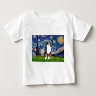 Australian Shepherd (Tri2) - Starry Night Baby T-Shirt