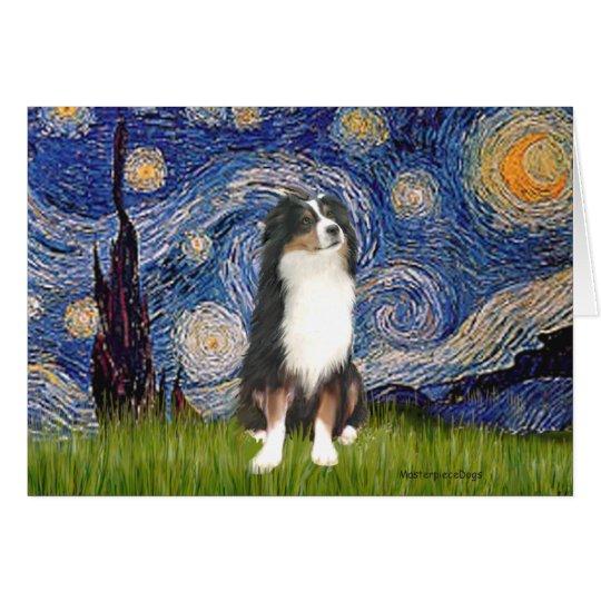 Australian Shepherd (Tri2) - Starry Night Card