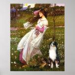 Australian Shepherd (Tri) - Windflowers Poster