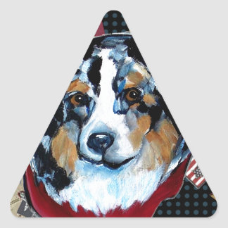 AUSTRALIAN SHEPHERD TRIANGLE STICKER