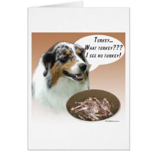 Australian Shepherd Turkey Card