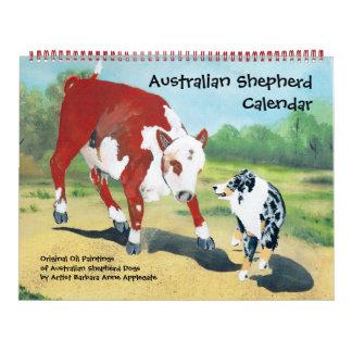 Australian Shepherd Two Page Large Calendar