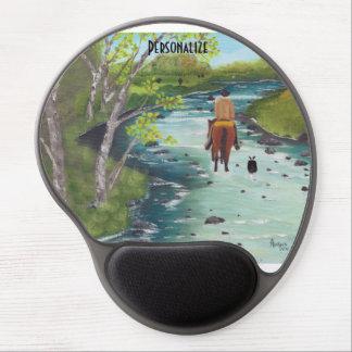 "Australian Shepherd ""Up the Creek"" Painting Gel Mouse Pad"