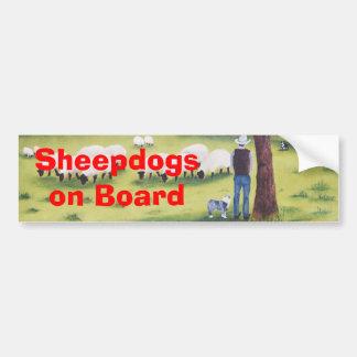 "Australian Shepherd ""Watchful Shepherd"" Painting Bumper Sticker"