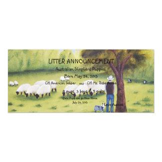 "Australian Shepherd ""Watchful Shepherd"" Painting Card"