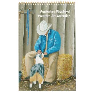 Australian Shepherd Western Art Calendar