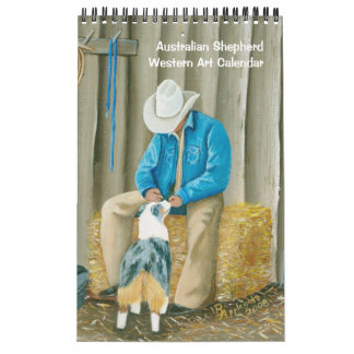Australian Shepherd Western Sm. Sgle Page Calendar