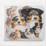 Australian Shepherd with Ghost Mouse Pads