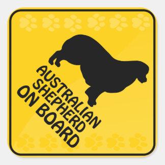 Australian Shepherd Xing Square Sticker