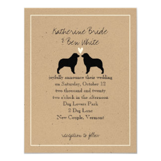 Australian Shepherds Wedding Invitation