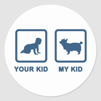 Australian Silky Terrier Classic Round Sticker