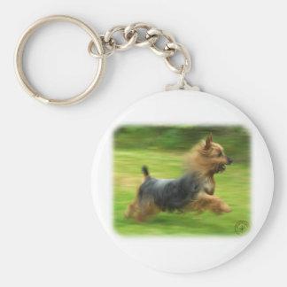 Australian Silky Terrier design Keychains