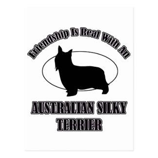 AUSTRALIAN SILKY TERRIER DOG DESIGNS POSTCARD