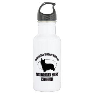 AUSTRALIAN SILKY TERRIER DOG DESIGNS WATER BOTTLE