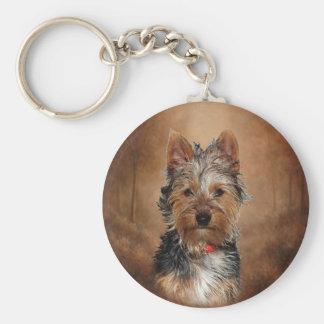 Australian Silky Terrier Keychain