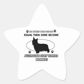 Australian Silky Terrier Mommy Sticker