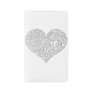 Australian slang heart large moleskine notebook