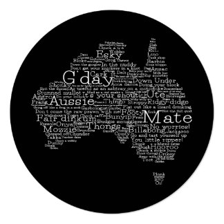 Australian slang map card
