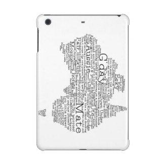 Australian slang map iPad mini cases