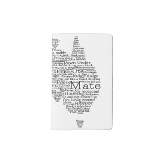 Australian slang map pocket moleskine notebook