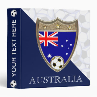 """Australian Soccer 1.5"""" 3 Ring Binder"""