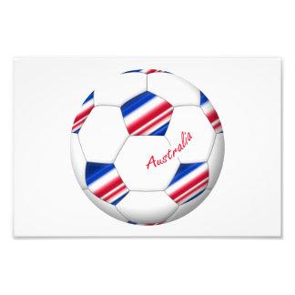 """Australian Soccer ball. Ball of """"AUSTRALIA """" Art Photo"""