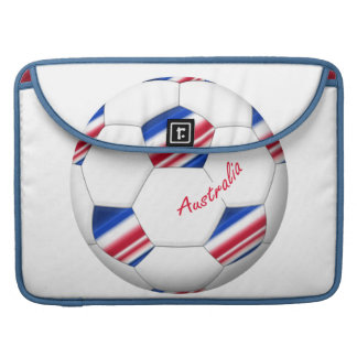 """Australian Soccer ball. Balón de """"AUSTRALIA"""" Fundas Para Macbook Pro"""