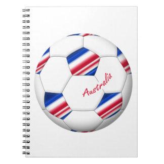 """Australian Soccer ball. Balón de """"AUSTRALIA"""" Cuaderno"""