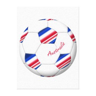 """Australian Soccer ball. Balón de """"AUSTRALIA"""" Impresión En Lona Estirada"""