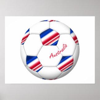 """Australian Soccer ball. Balón de """"AUSTRALIA"""" Poster"""