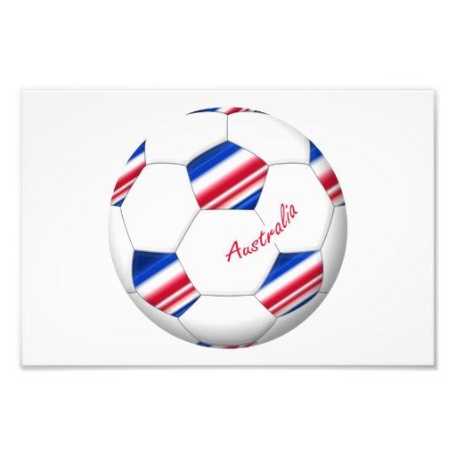 """Australian Soccer ball. Balón de """"AUSTRALIA"""" Arte Con Fotos"""