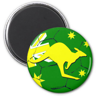 Australian soccer ball with kangaroo magnet